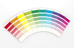 color selection counts for how much to paint a room