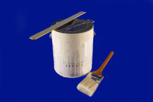 paint brush and can image for cost to paint exterior of house blue