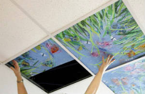painting ceiling tiles