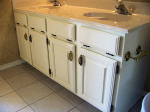 replacing a bathroom counter top